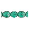 Fire Polished 7mm Transparent Light Emerald
